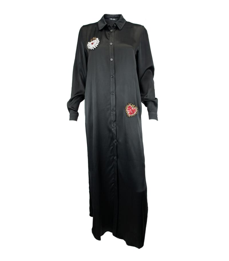 Сатенена рокля-риза Odi et Amo - MyFashionStore.eu