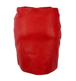 Кожена пола Odi et Amo-red - MyFashionStore.eu