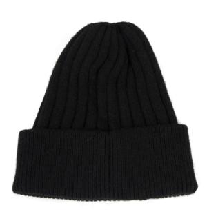 Черна шапка Odi et Amo Универсален размер Декорация с мъниста, пришита фронтално Арт. номер: 163М1