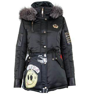 Черно дамско яке Marpel - MyFashionStore.eu