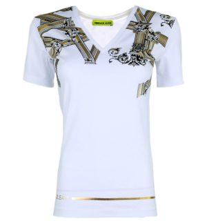 Дамска бяла тениска VERSACE JEANS - MyFashionStore.eu