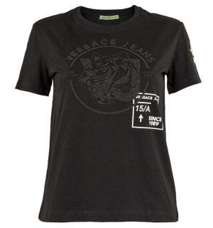 Дамска черна тениска VERSACE JEANS - MyFashionStore.eu
