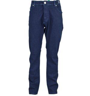 Мъжки дънки VERSACE JEANS 3 5 джоба Златен детайл на заден десен джоб Straight fit Лого Моделът е уголемен 98 % памук, 2 % еластан Арт. номер: A2GTB0S2 60366